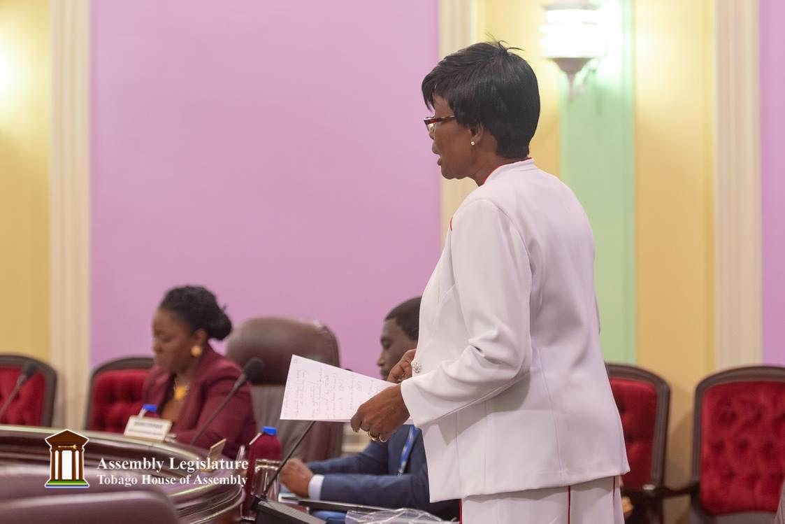 Health Secretary Dr Agatha Carrington  PHOTO BY Maurice Goddard