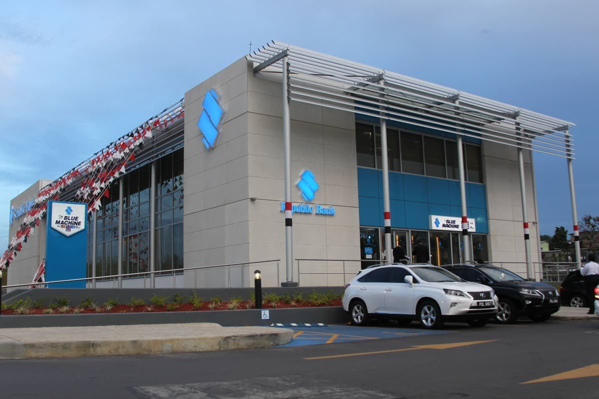 A Republic Bank branch at Southpark Shopping Centre in San Fernando. Republic Financial Holdings Ltd has agreed to buy Scotiabank's assets in the Eastern Caribbean, Guyana and St Maarten. FILE PHOTO