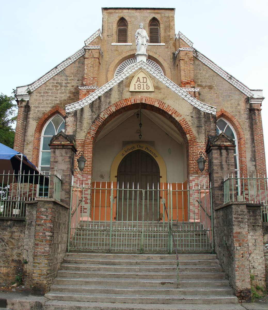 St Joseph RC Church, built in 1815, is a stately red brick structure overlooking Maracas Royal Road.  PHOTOS BY ROGER JACOB