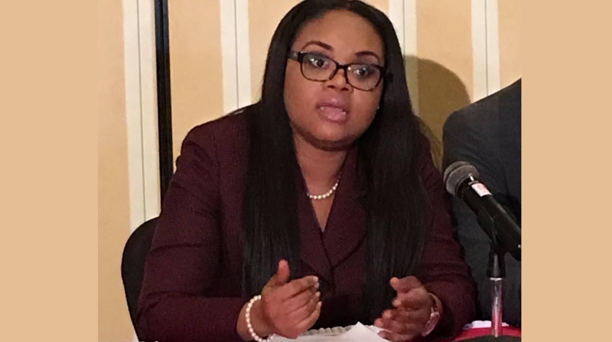 Sports and Youth Affairs Minister Shamfa Cudjoe