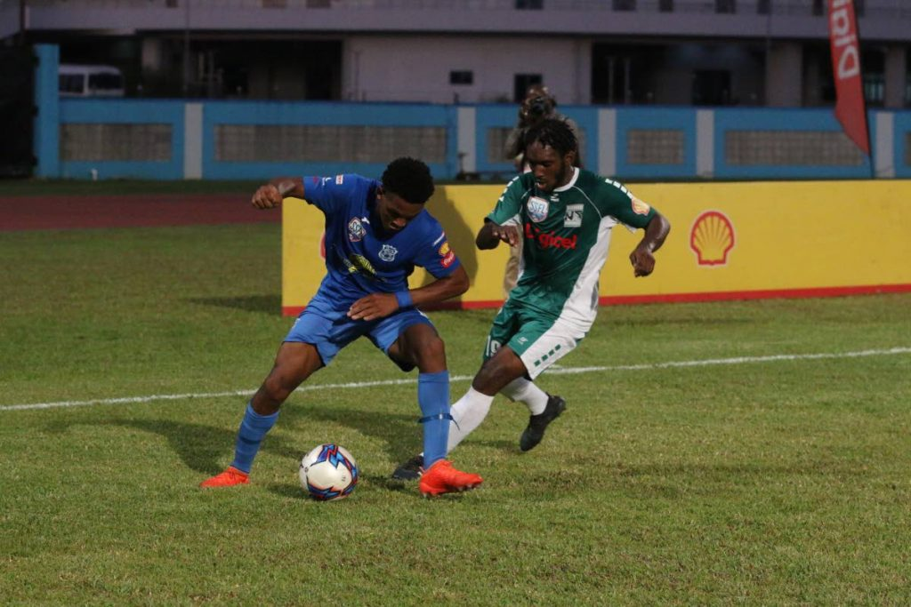 Naps in action vs San Juan North in the Coca Cola National Intercol final on Tuesday at the Ato Boldon Stadium, Couva. PHOTO BY ANSEL JEBODH