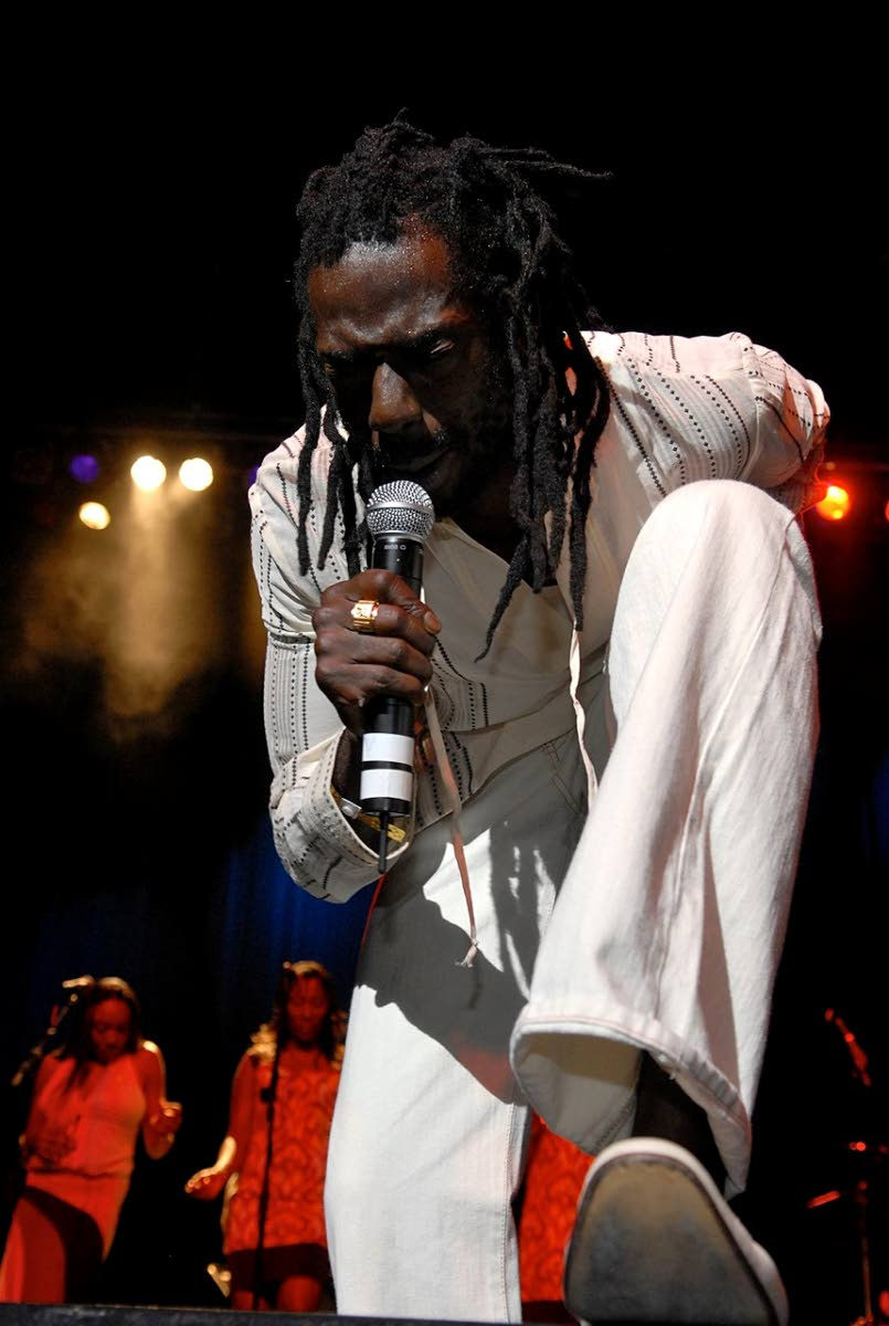 Buju Banton performing at New York's Apollo theater during the 26th International Reggae & World Music Awards (IRAWMA)