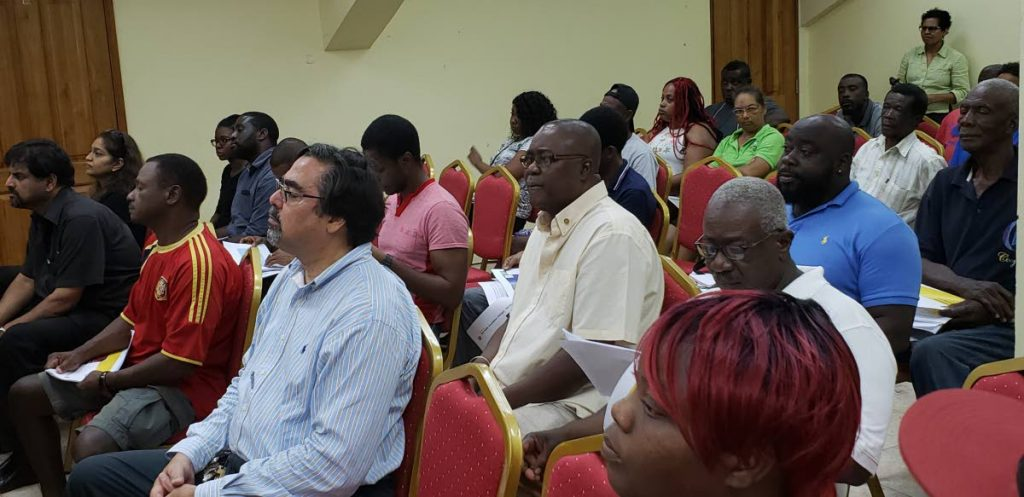 Participants at Tuesday's public consultation hosted by Shell Trinidad and Tobago Limited on its subsea drilling programme offshore the North Coast of Trinidad and Tobago, at the Buccoo Integrated Facility.