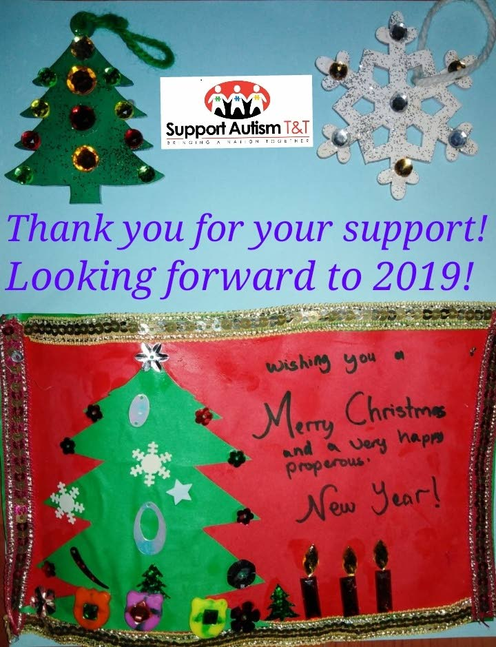 Beautiful Christmas card make by Akash Sawh, 12 years old child with autism.