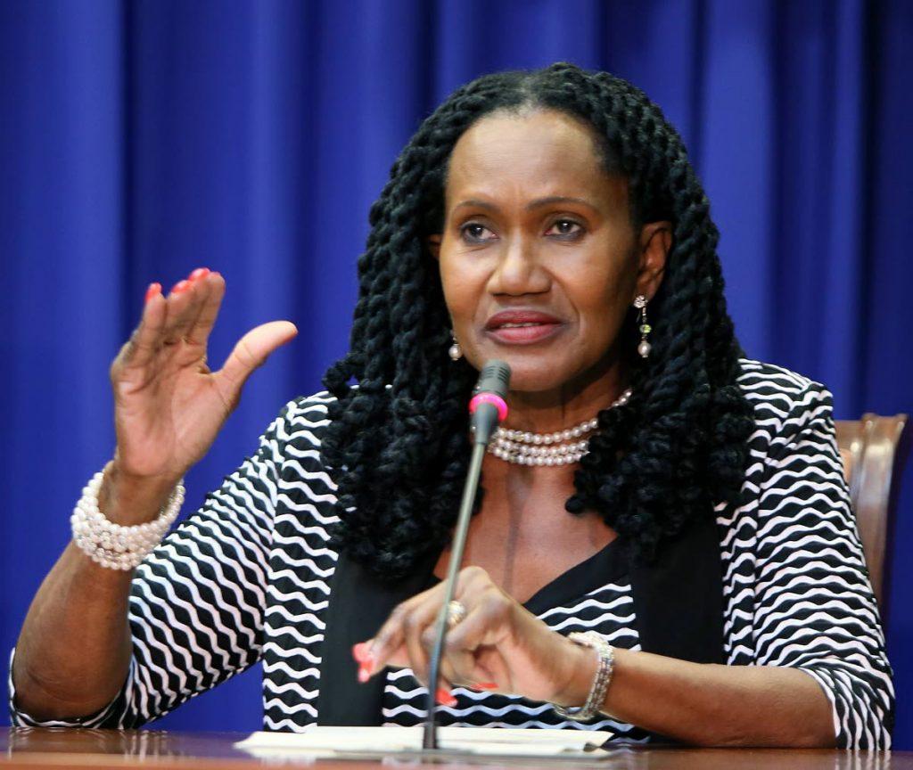 Minister of Labour Jennifer Baptiste-Primus