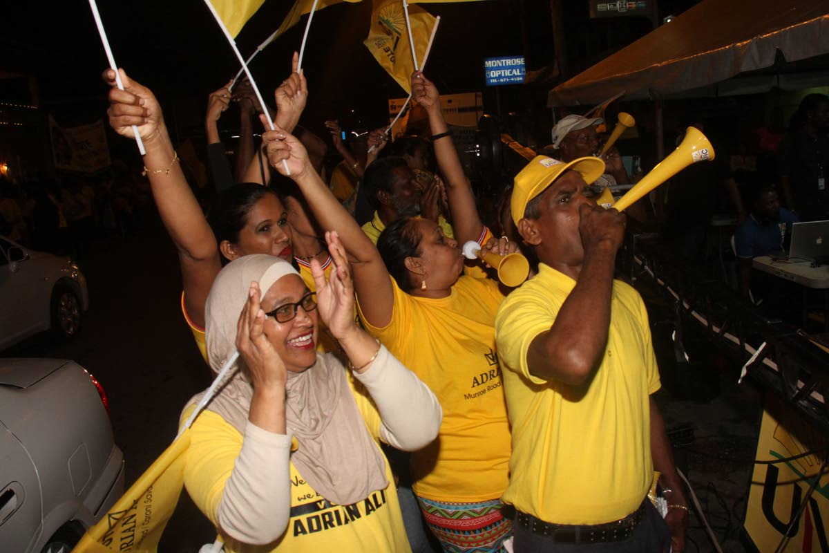 UNC supporters at a political meeting in Chaguanas in 2016. FILE PHOTO