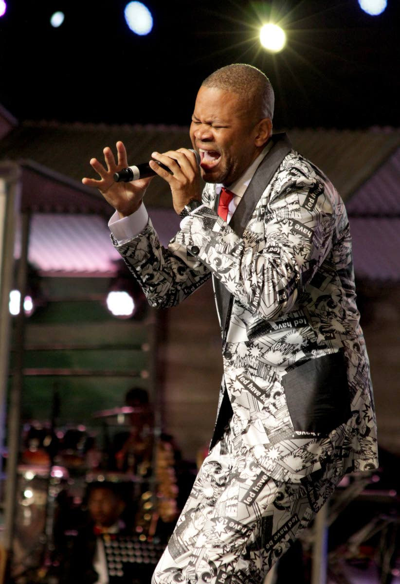 Duane O'Connor, the 2012 calypso monarch, in performance at the 2018 finals, during Dimanche Gras, Queen's Park Savannah, Port of Spain. This year, the calypso monarch final takes place on the Thursday before Carnival and finalists will sing one song. FILE PHOTO