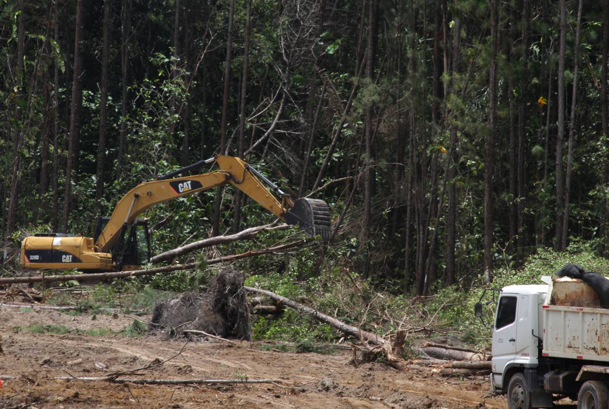 In this April 7, 2018 file photo an area of forest is cleared for construction of the Cumuto/Manzanilla Highway. Cumuto residents are planning legal action to stop eviction from their properties to make way for the highway.