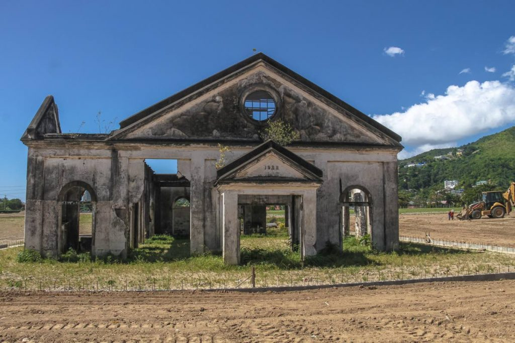 The remains of a pumping station built in 1922 on the site where West Park is under construction in Diego Martin. Retired journalist Rosemary Store has written that the early development of the area was under Charles Arthur Richards Farrell, the first local city engineer, and not his son Harry Farrell. FILE PHOTO