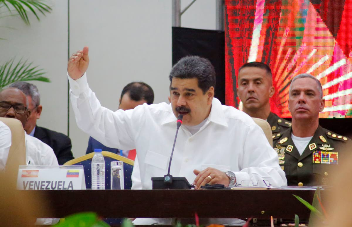 Venezuela's President Nicolas Maduro speaks at the Bolivarian Alliance for the Peoples of Our America, or ALBA, summit in Havana, Cuba on December 14, 2018. AP FILE PHOTO