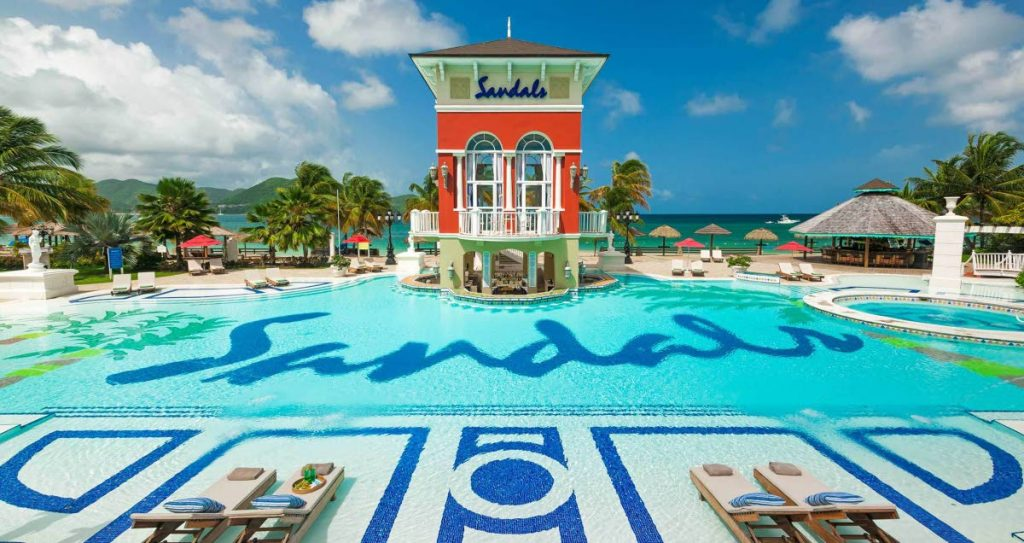 A Sandals resort.