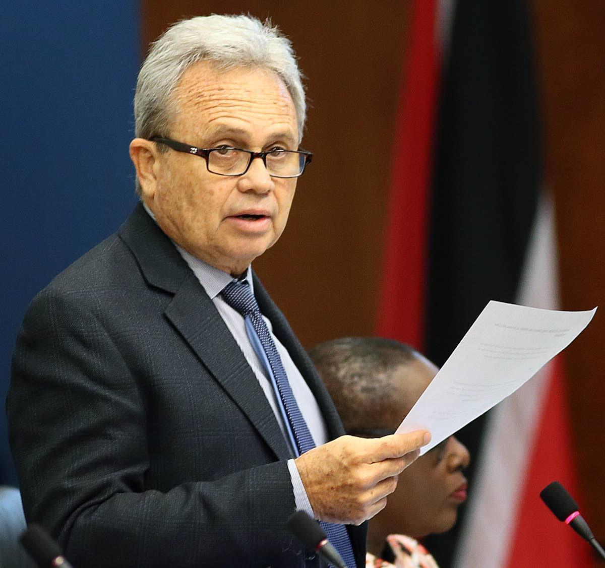 Finance Minister Colm Imbert.