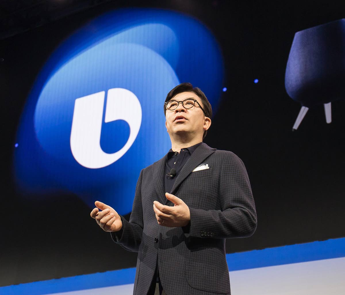 Samsung's president and CEO HS Kim presents the company's strategy at CES. Photos courtesy Samsung.