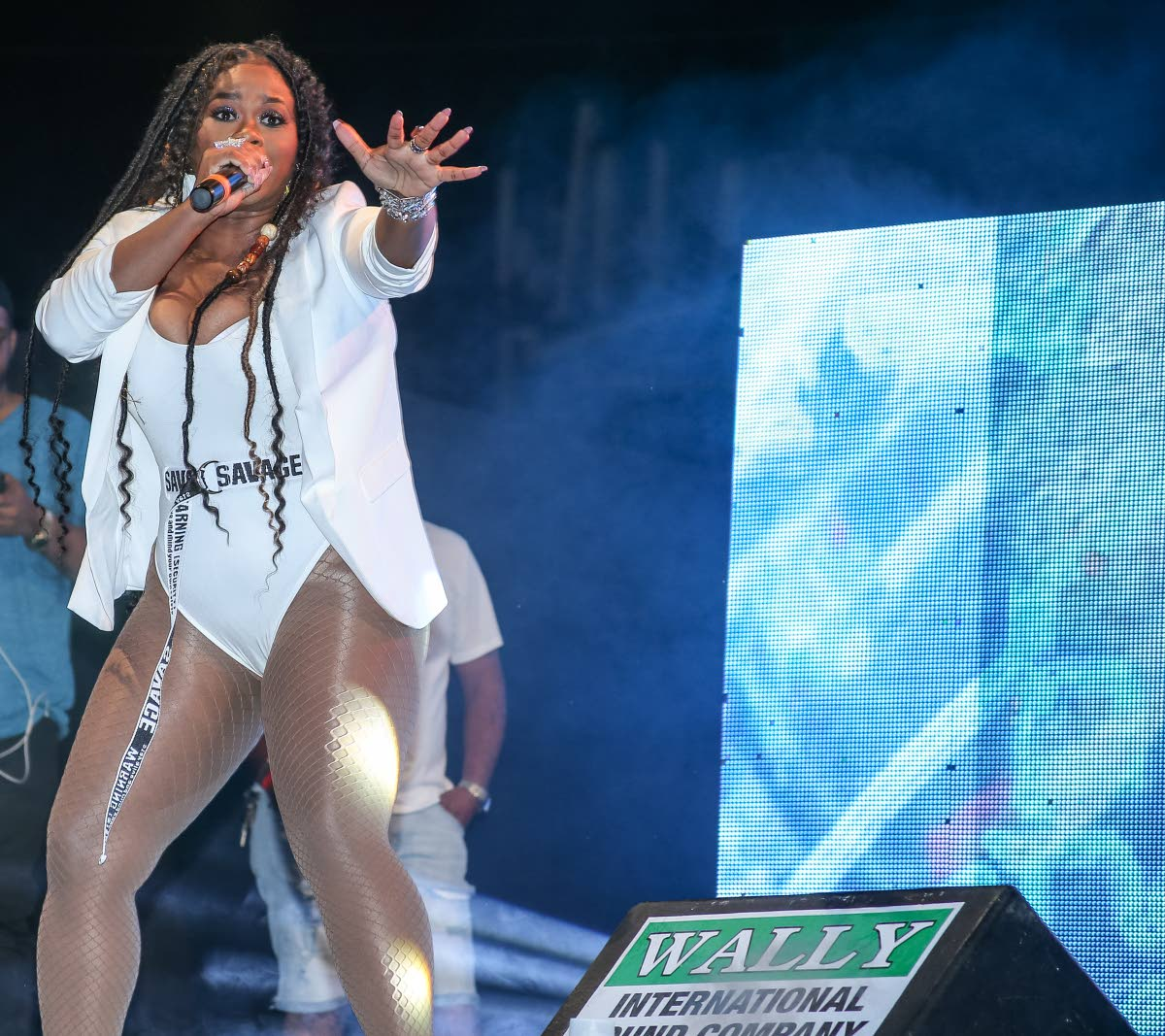 Nadia Batson during her performance at Tribe Ice at The Paddock, Queen's Park Savannah, Port of Spain on Saturday.