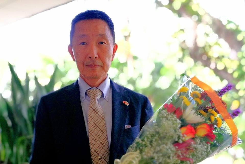 Former Japan Ambassador to TT Mitsuhiko Okada.