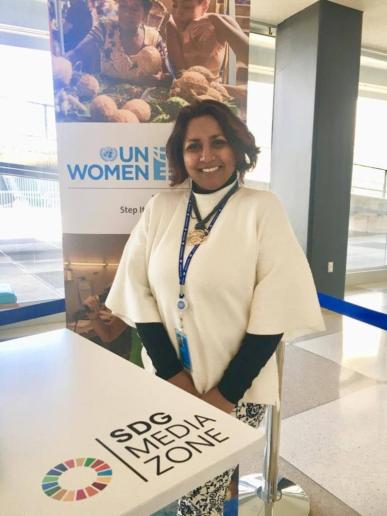 De Safeeya Mohammed at the United Nations, New York for Commission of the Status of Women 2018.