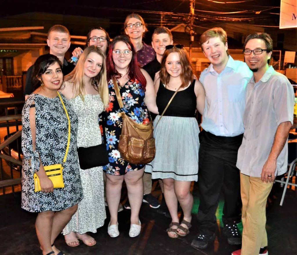 Students of the University of Minnesota at the opening of Monarchs on the Avenue last Wednesday.