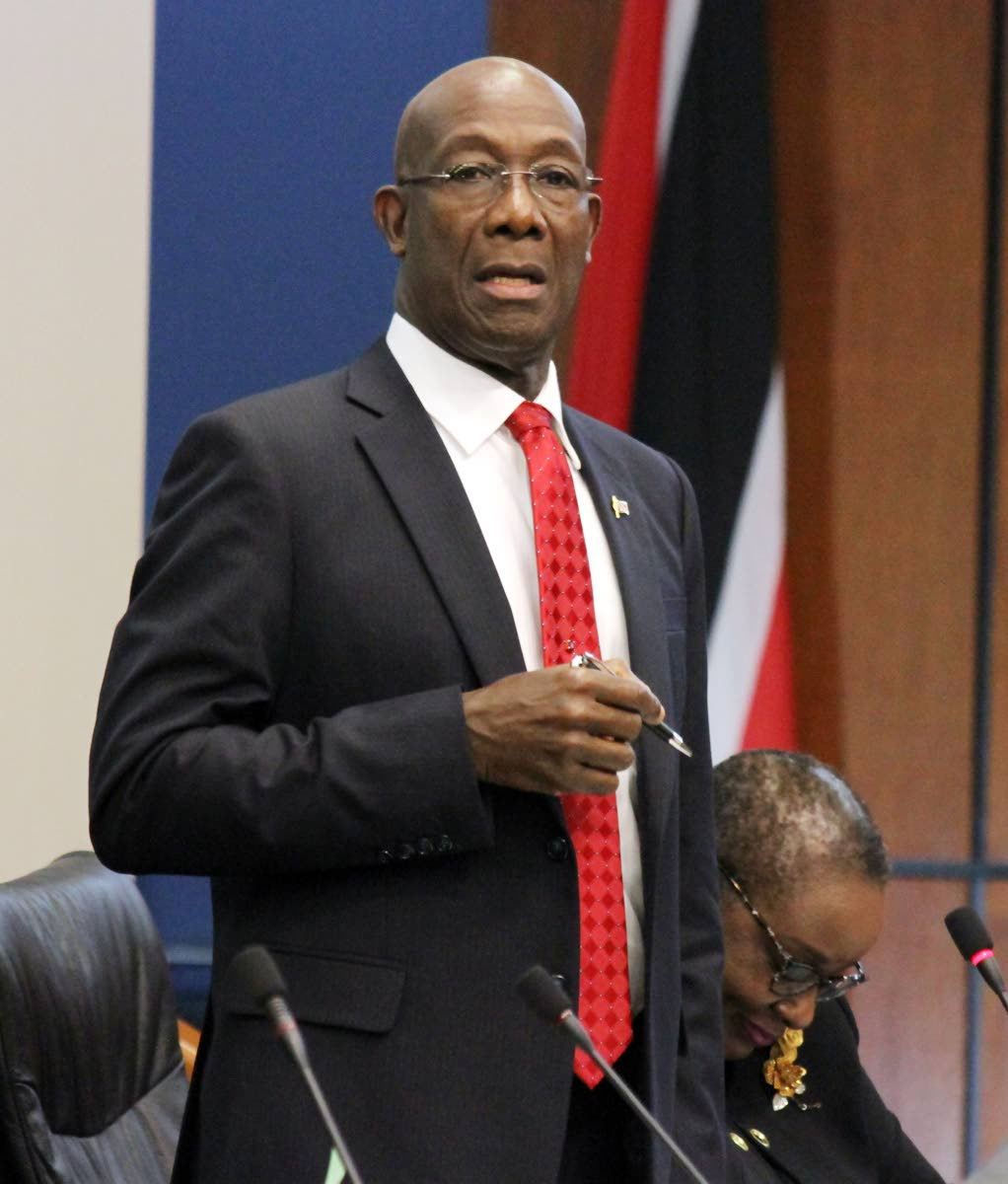 Prime Minister Dr Keith Rowley PHOTO BY SUREASH CHOLAI