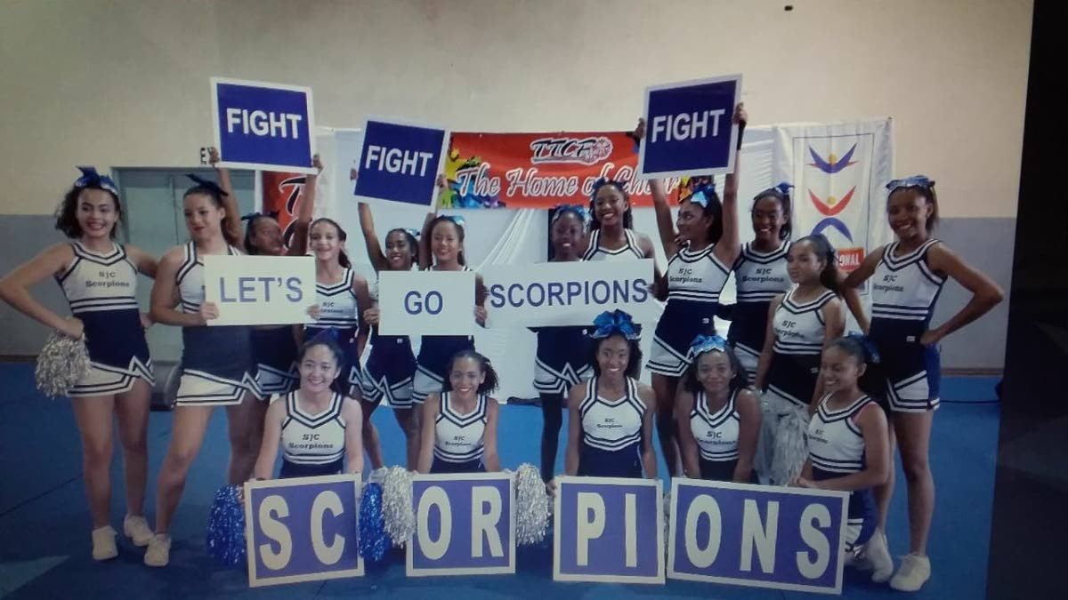 St Joseph's Convent Port of Spain Scorpions will  be competing in the World School Cheerleading Championships in Orlando, Florida next month.