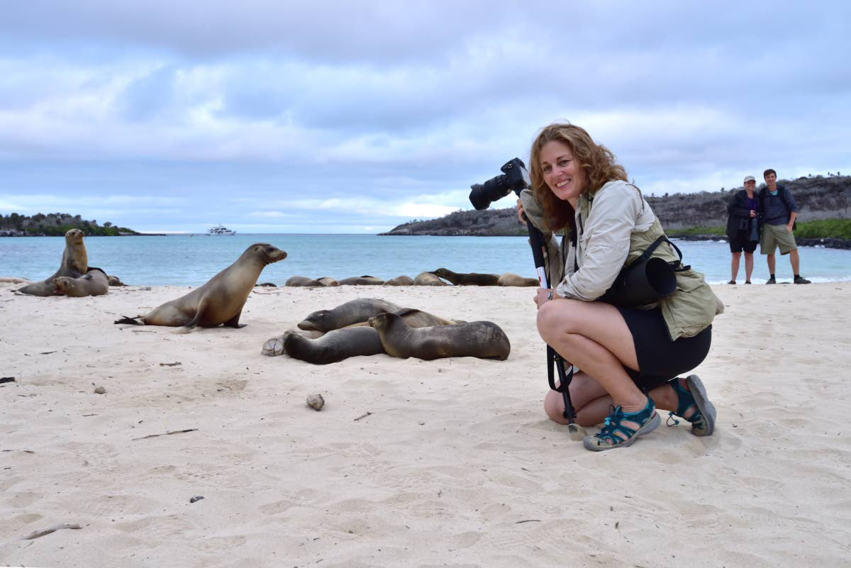 Rachel in the Galapagos  Photo: Roger Neckles