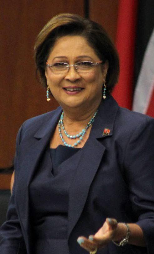Opposition Leader Kamla Persad-Bisessar .