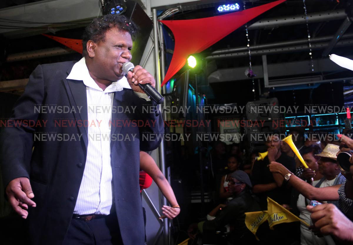 Kenneth Supersad performs at the Chutney Soca Monarch Semi Finals at The Rig, San Fernando, on Saturday night. PHOTO BY ANSEL JEBODH