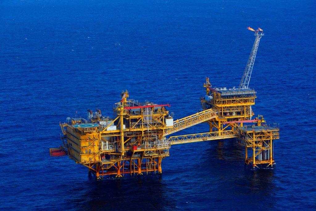 BHP TT's offshore facility in the Angostura Field – Block 2 (c). Photo courtesy BHP