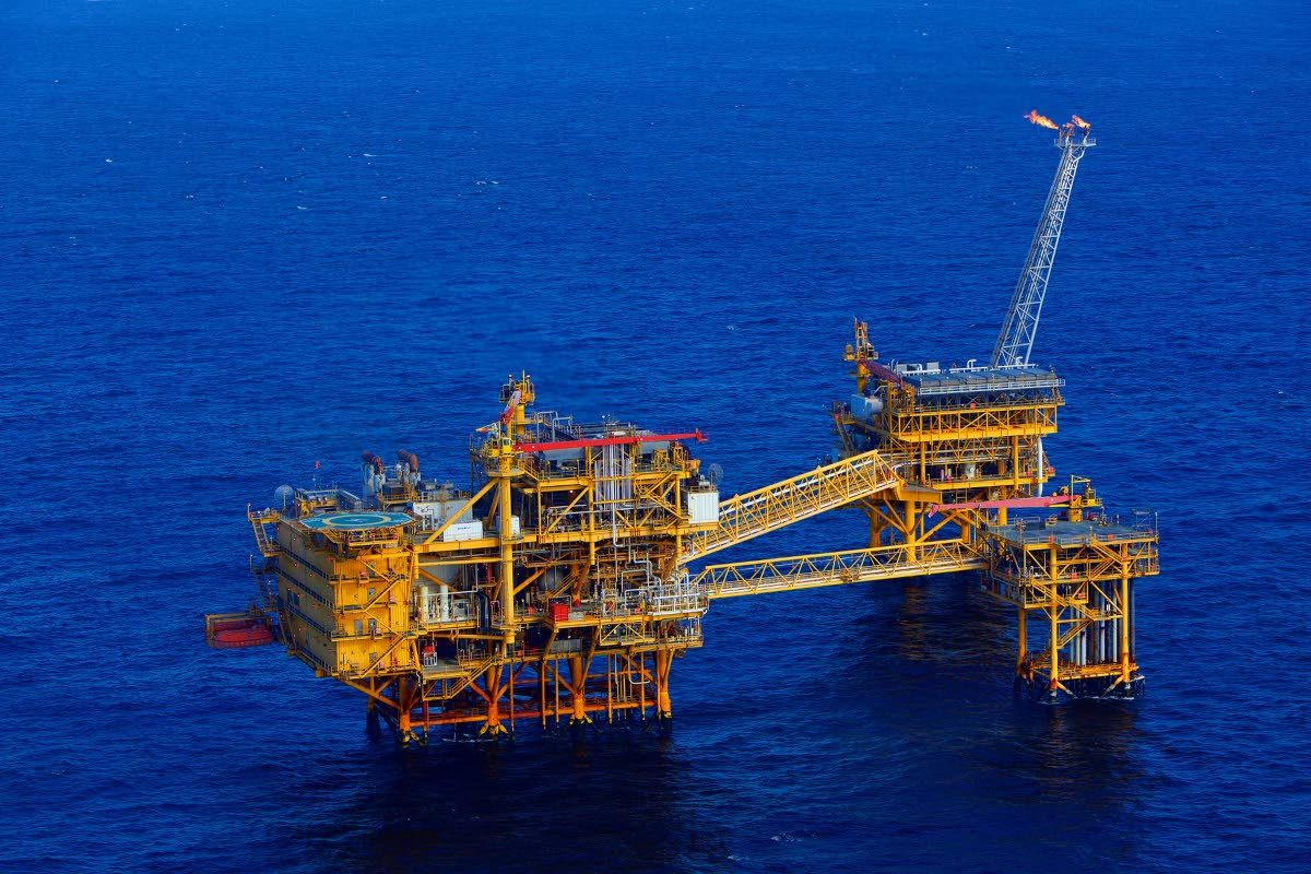 BHP TT's offshore facility in the Angostura Field – Block 2 (c). Photo courtesy BHP
