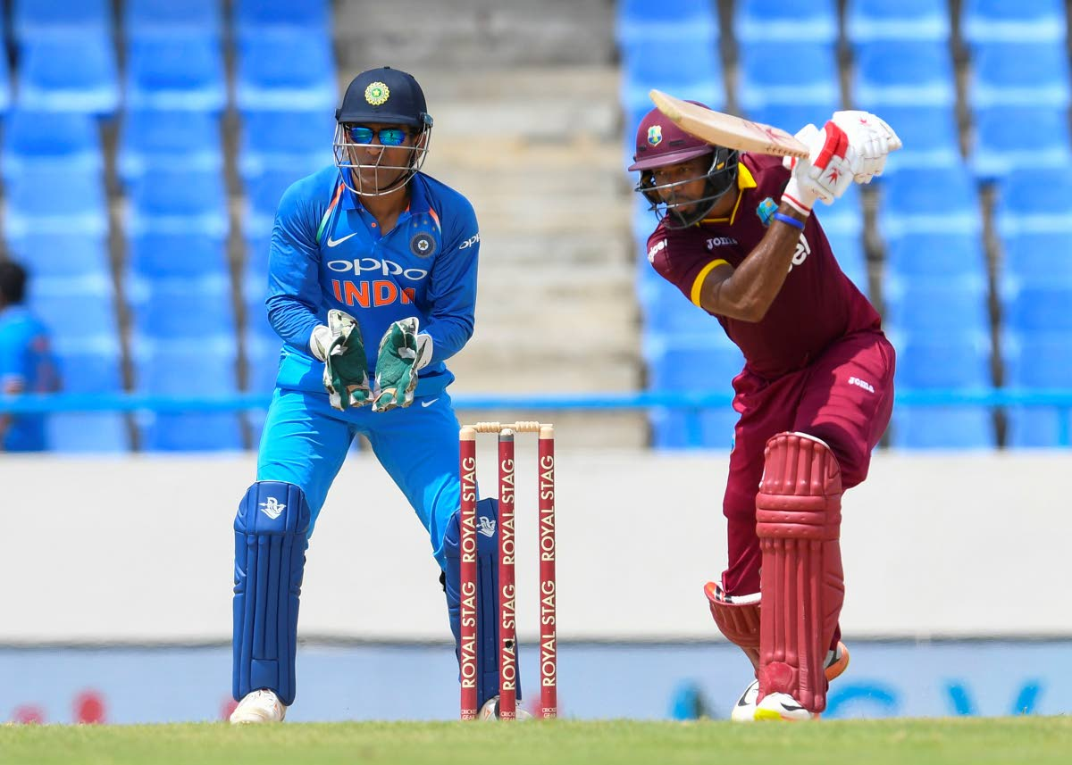 FLASHBACK: Kyle Hope in Windies colours batting against India in 2017. PHOTO BY CWI MEDIA