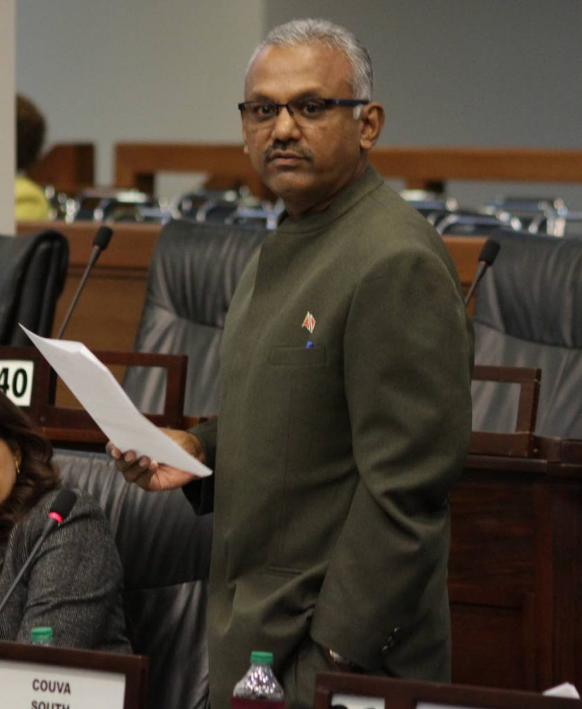 Couva South MP Rudranath Indarsigh