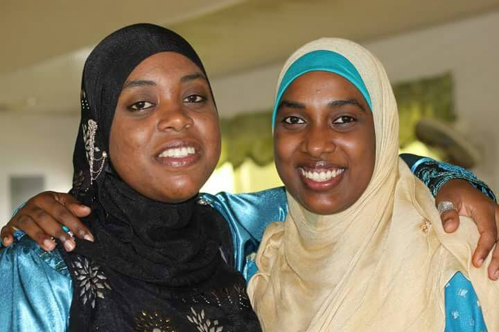 Sabira Mohammed, right, with her sister Azizah.