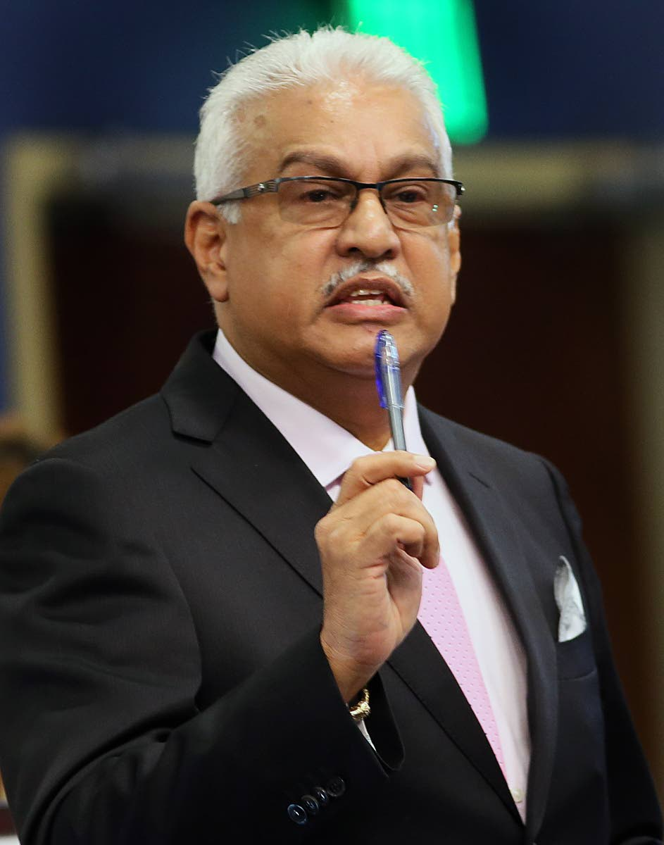 Minister of Health Terrence Deyalsingh. FILE PHOTO