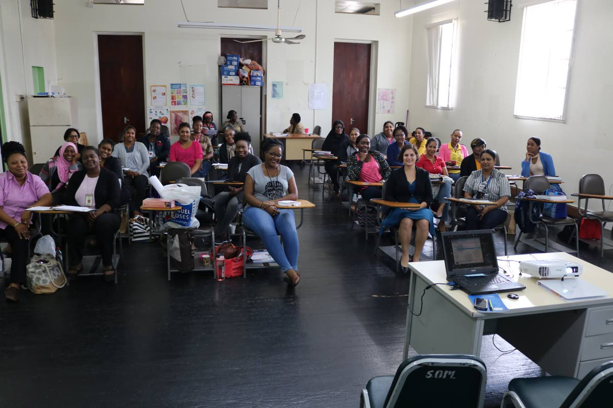A public screening of Tammy Kremer's Birth Stories of Trinidad and Tobago at the Midwifery Classroom at San Fernando General Hospital.