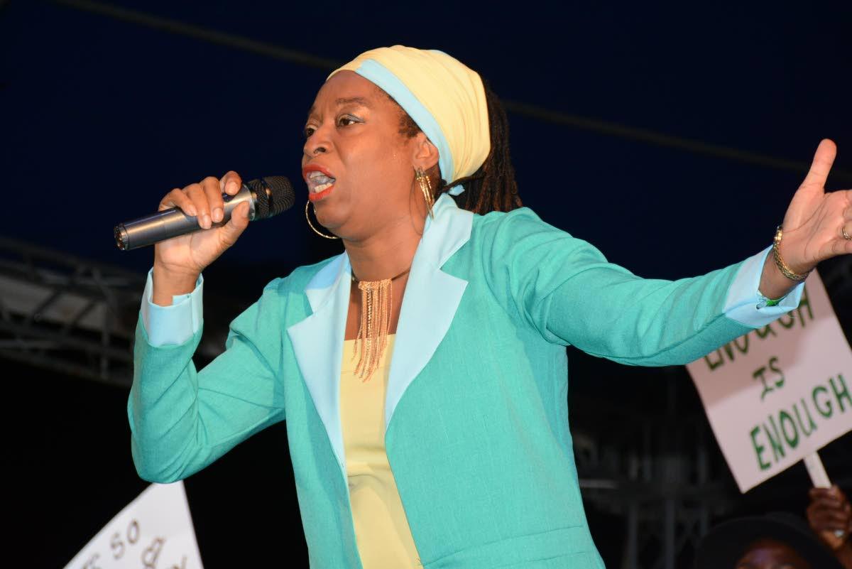Reigning Tobago Calypso Monarch Roslyn Reid