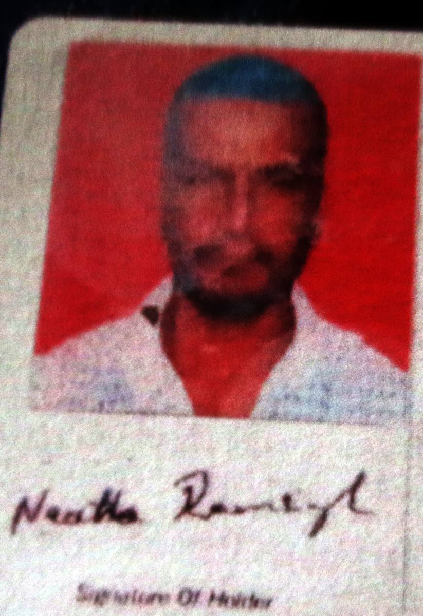 Neatha Ramsingh who was killed in Fyzabad on Monday evening