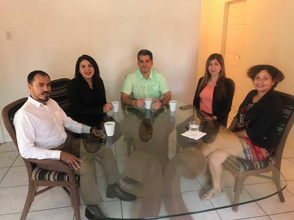 Left to right:  Ricardo Solis, Greisy Gonzalez, Miguel Gutierrez, Ilaima Molina and Andreina Briceno-Brown.