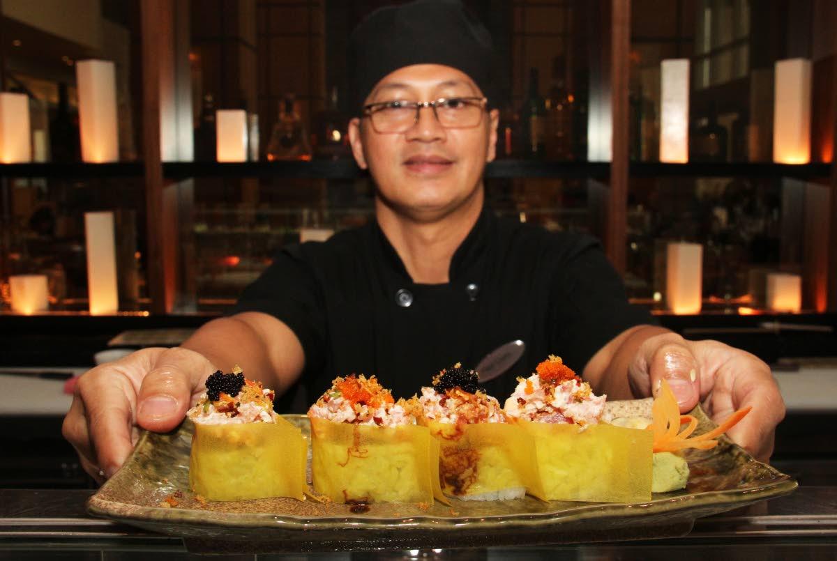 Chef Paul Claro is Hyatt Regency Trinidad's new sushi chef.