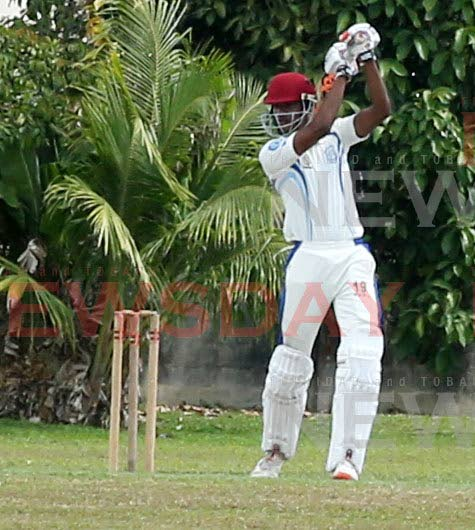 Naparima's Kyle Roopchan plays a shot against Presentation College in the previous round of the Powergen Secondary Schools Cricket League. PHOTO BY VASHTI SINGH