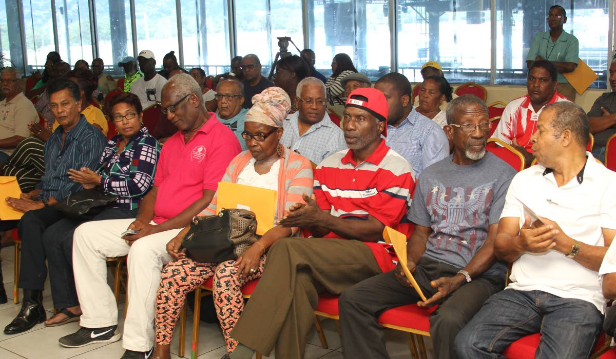 Carnival stakeholders from throughout the country at the Distribution of Subvention ceremony hosted last Friday by the Regional Carnival Committee of the National Carnival Commission, VIP Lounge, Queen's Park Savannah, Port of Spain. PHOTO BY ROGER JACOB
