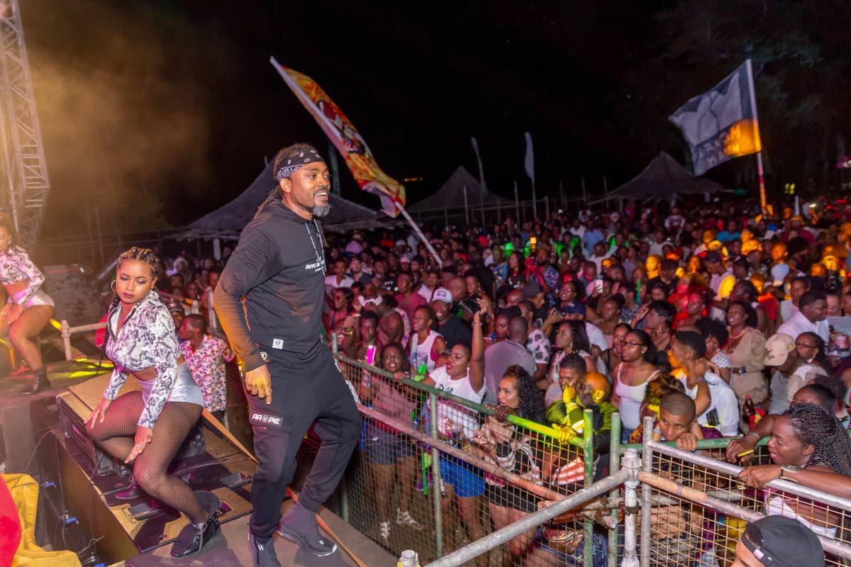 Machel Montano performs at Tobago Love Soca (TLS) weekend  at the Canoe Bay Bay Resort.