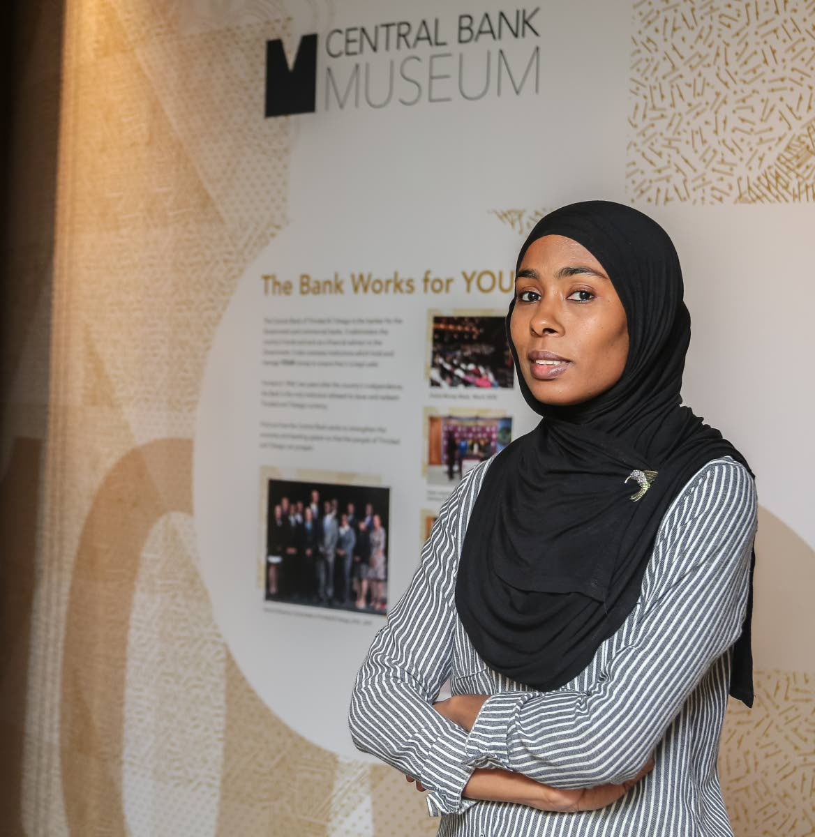 Central Bank museum curator Nimah Muwakil. Photo by Jeff K Mayers