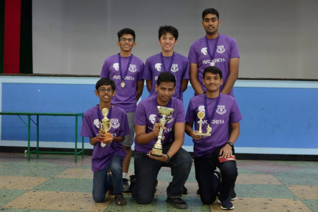 TOP SCHOOL: Hillview College players dominated the Secondary Schools Chess Championship hosted by the St Joseph's Convent Port of Spain Club last weekend.