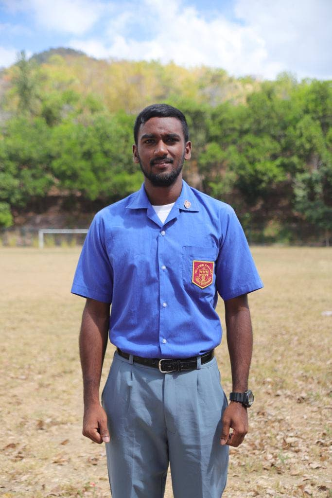 Hillview cricketer Navin Bidaisee scored a century on Tuesday against Presentation College.