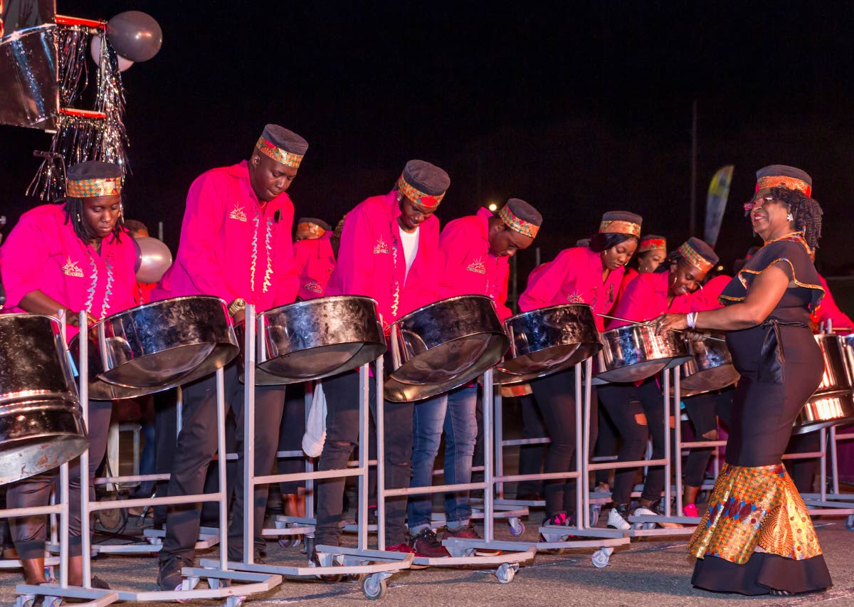 Metro Stars storms to first place in the 2019 THA Pan Champs single pan bands final with their performance of Pan By Storm at Dwight Yorke Stadium, Tobago on Friday night.
