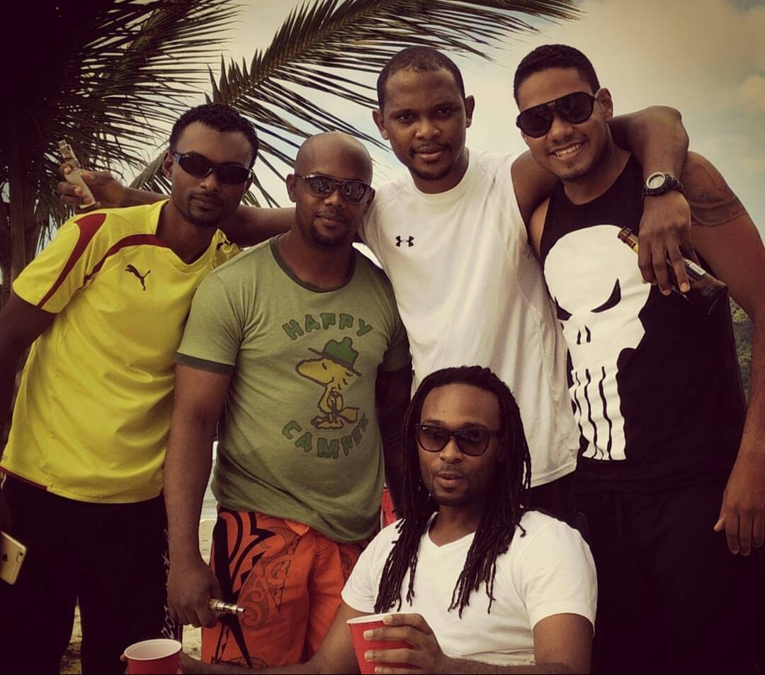 From left to right: Zoe Cupid, Marc-Anthony Ward, Andre Sampson, Justin Madeira, Osei David (seated)