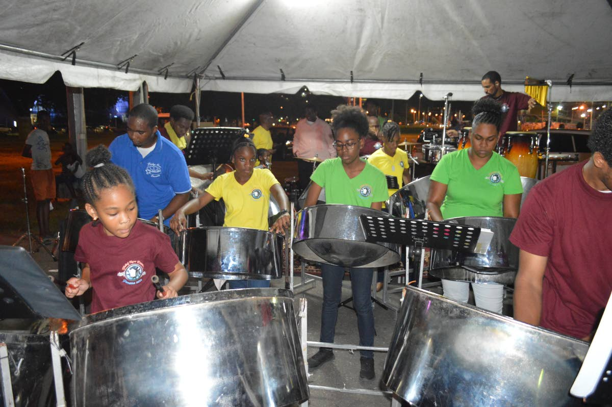 The youthful Flabej Now Steel Orchestra.