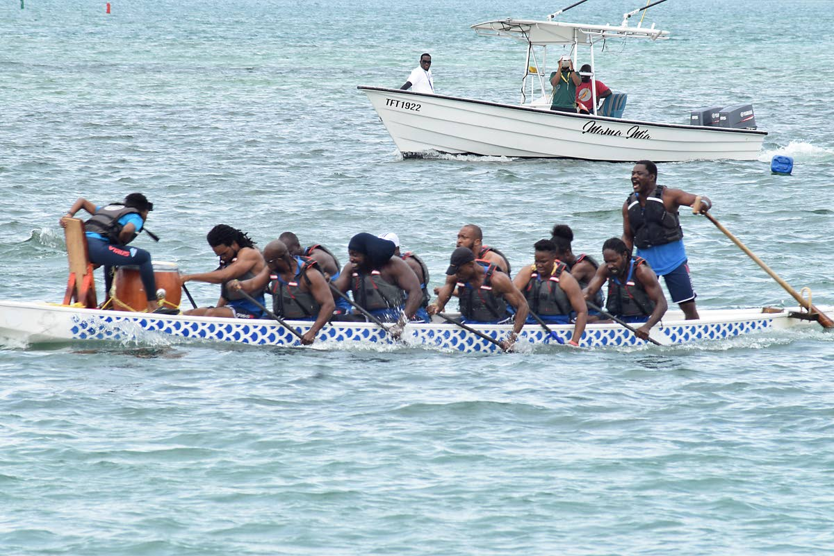 FLASHBACK: In this file photo,Team Aquaforce,of Tobago, competes at the Annual Dragon Boat Festival, at Pigeon Point, Tobago, on June 16,2018.