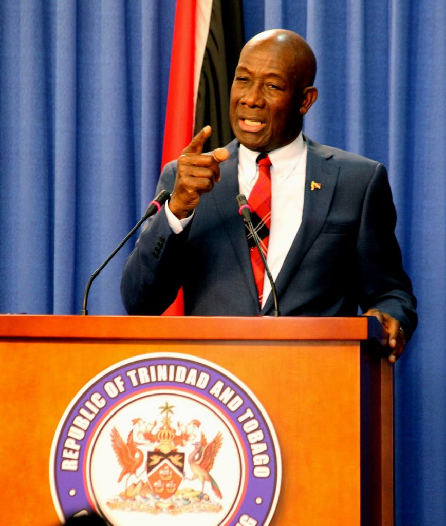 Prime Minister Dr Keith Rowley. FILE PHOTO