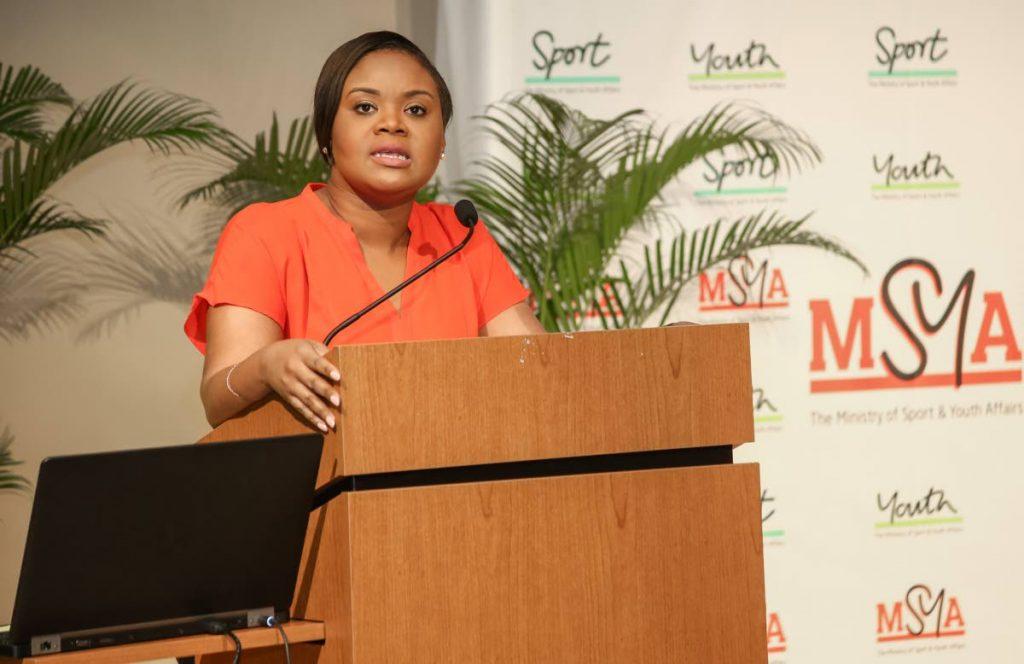 Minister of Sport and Youth Affairs Shamfa Cudjoe