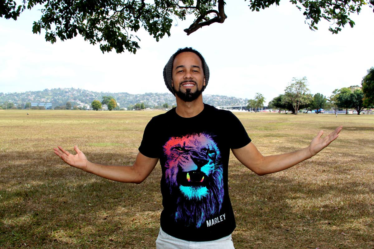 MY SAVANNAH: Soca star Kees Dieffenthaller at the Queen's Park Savannah during a recent interview. His hit Savannah Grass placed second in the Road March race. PHOTO BY ROGER JACOB